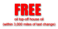 Free Top off Oil - within 3000 miles of last change