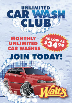 Car Wash Club Poster
